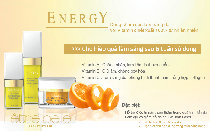 Serum làm sáng vitamin C, E Energy Vitavel Serum